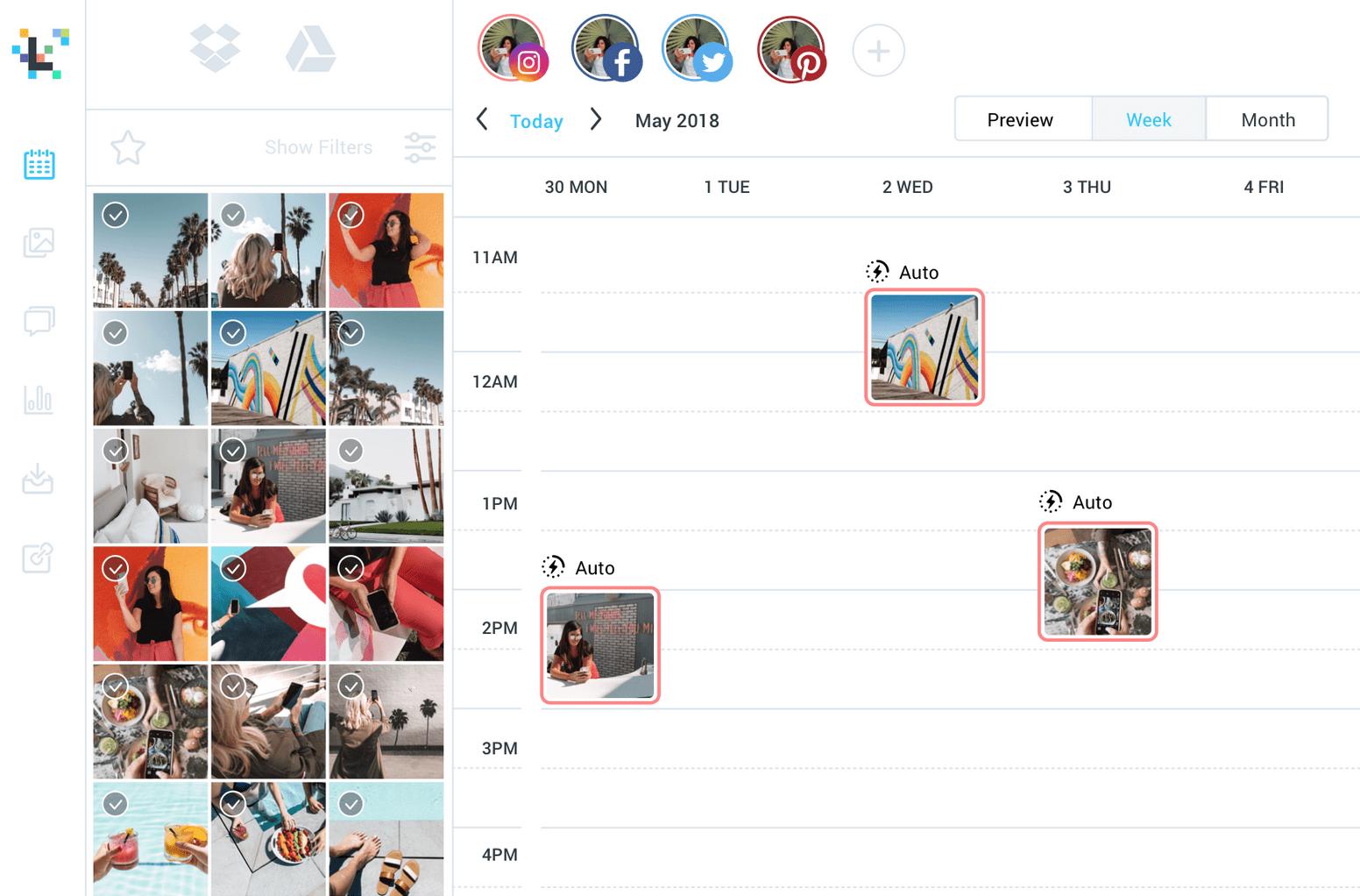 tool instagram post plannen
