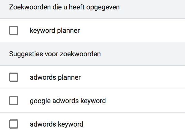 google ads kewyord planner