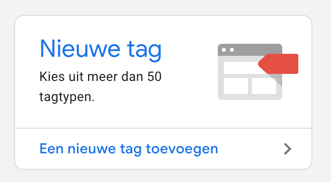 google tag manager nieuwe tag