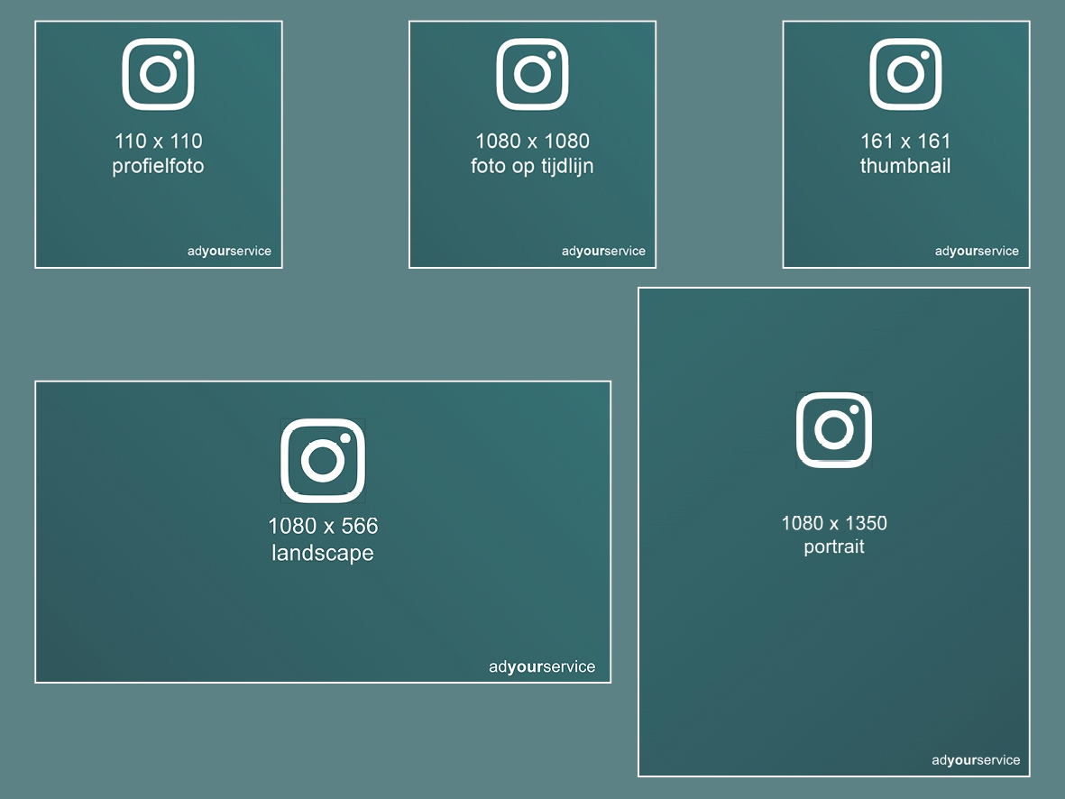 instagram afmetingen afbeeldingen