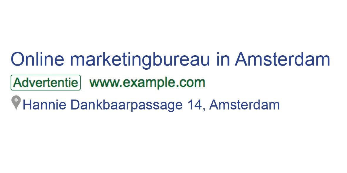 locatie extensie Google